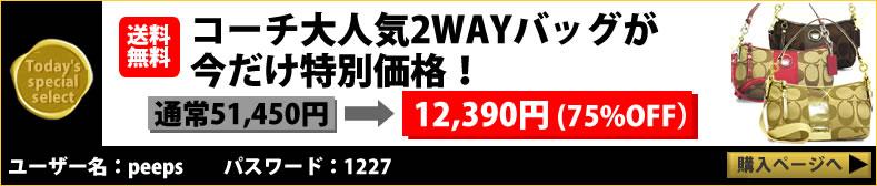 コーチ大人気2WAYバッグが今だけ75%OFF12390円
