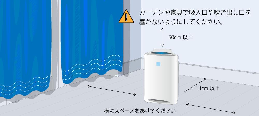 空気 清浄 機 置き場 所 空気清浄機と加湿器の効果的な置き場所はどこ?
